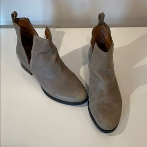 Jeffrey Campbell gray ankle booties